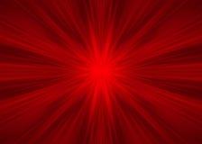 Rayos simétricos rojos Imagen de archivo libre de regalías