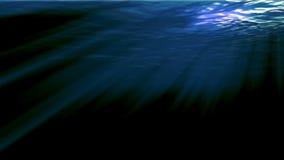 Rayos solares subacuáticos ilustración del vector