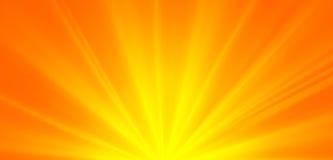 Rayos solares verdes abstractos, fondo ambiental de la primavera del concepto Fotos de archivo