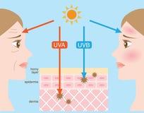 Rayos ultravioletas ilustración del vector