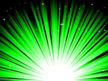 Rayos verdes Imagen de archivo libre de regalías