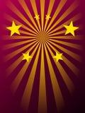 Rayos y estrellas Imagen de archivo libre de regalías