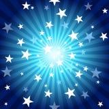 Rayos y estrellas de Sun Imágenes de archivo libres de regalías
