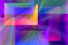 Rayos y rectángulos Fotografía de archivo libre de regalías