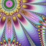 Rays. Abstract fractal background created with the fractal explorer Stock Photos