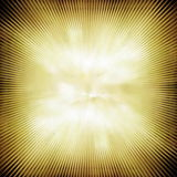 Rays  in abstract green yellow  universe Stock Images