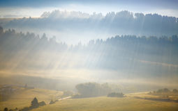 Rays in the Alps Royalty Free Stock Photo
