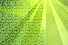 Rays and arrows background. Digital green background vector illustration