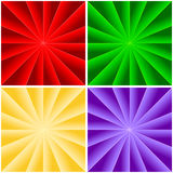 Rays background. Four colorful rays background for your design.vector illustration Stock Photography