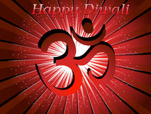 Rays background with isolated aum for happy diwali Stock Photography