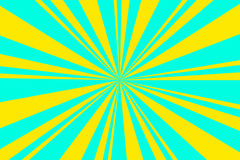 Rays background. Light blue and yellow rays background Stock Photos