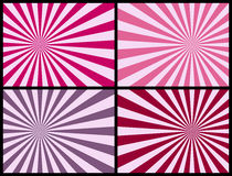Rays Background [Pink]. Four retro rays backgrounds in pink tone. Each Sunburst measures 3500x2625 pixels. Three different versions (pink, blue and warm colors) Stock Photography