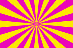 Rays background. Pink and yellow rays background Stock Photography