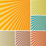 Rays backgrounds. Sun rays backgrounds in various colors Stock Photography