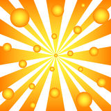 Rays and balls Royalty Free Stock Photos