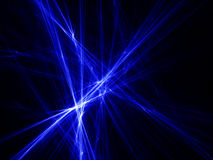 Rays of blue light Royalty Free Stock Photos