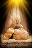 Rays and the bread Royalty Free Stock Image