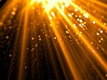Rays and bubbles - abstract digitally generated image Stock Photo