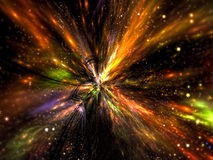 Rays burst - abstract digitally generated image Royalty Free Stock Photography
