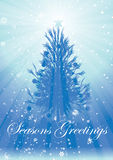 Rays christmas tree greetings Royalty Free Stock Photos