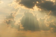 Rays in the clouds Royalty Free Stock Photos