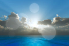 Rays in clouds Royalty Free Stock Images