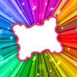 Rays Color Represents Frame Colour And Radiate Royalty Free Stock Images