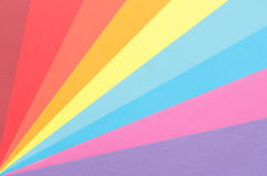Rays of colorful construction paper. Colorful construction paper arranged as diagonal rays Stock Photography
