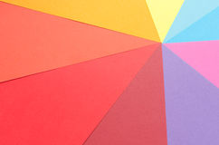 Rays of colorful construction paper Stock Photo