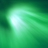 Rays of Coloured Light. Green shining light Royalty Free Illustration
