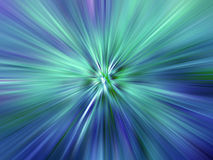 Rays of Coloured Light. Green and Blue Explosion Royalty Free Illustration