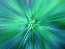 Rays of Coloured Light. Green and Blue Rays of Light Vector Illustration