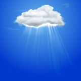 Rays coming out of cloud Royalty Free Stock Images