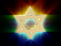 Among rays of gold Star of David Royalty Free Stock Photography