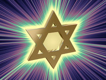Among rays of gold Star of David Royalty Free Stock Photos
