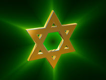 Among rays of gold Star of David Stock Images