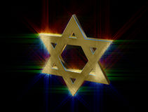 Among rays of gold Star of David Royalty Free Stock Image
