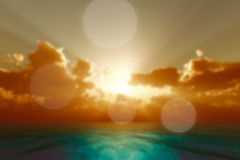 Rays in golden clouds Stock Photography