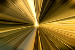 Rays of golden light. In many different shades stock images