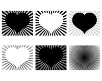 Rays heart design Stock Images