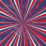 Rays Hintergrund USA-Farben mit Schmutz - Vektor lizenzfreie stockfotos