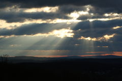 Rays of Hope. Sunrise in Pa Stock Photography
