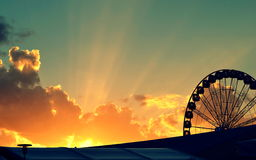 Rays of Hope in the Wheel of Life Stock Images