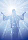RAYS JESUS 1 Royalty Free Stock Image
