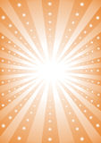 Rays of light. With orange color and stars rising from center Royalty Free Stock Image