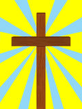 Rays light from christian cross Royalty Free Stock Image