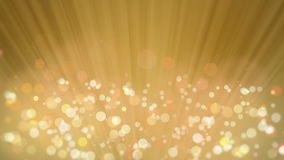 Rays of Light with Elegant Bokeh Gold Background. stock video footage