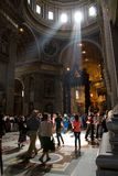 Rays of Light Inside St. Peters Basilica, Rome Stock Photography