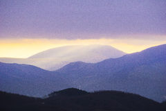 Rays of light on mount Cucco after a storm, mount Cucco NP, Apen Royalty Free Stock Photo