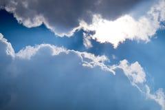 Rays of light shining down Stock Image